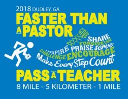 Faster than a Pastor 8-Mile, 8-Mile Relay, 5K, and 1-Mile