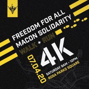 Freedom for all Macon Solidarity 4K Run/Walk