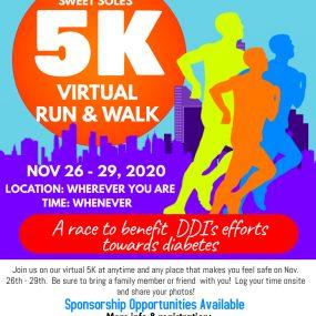 8th Annual Sweet Soles Diabetes 5K Run/Walk - VIRTUAL